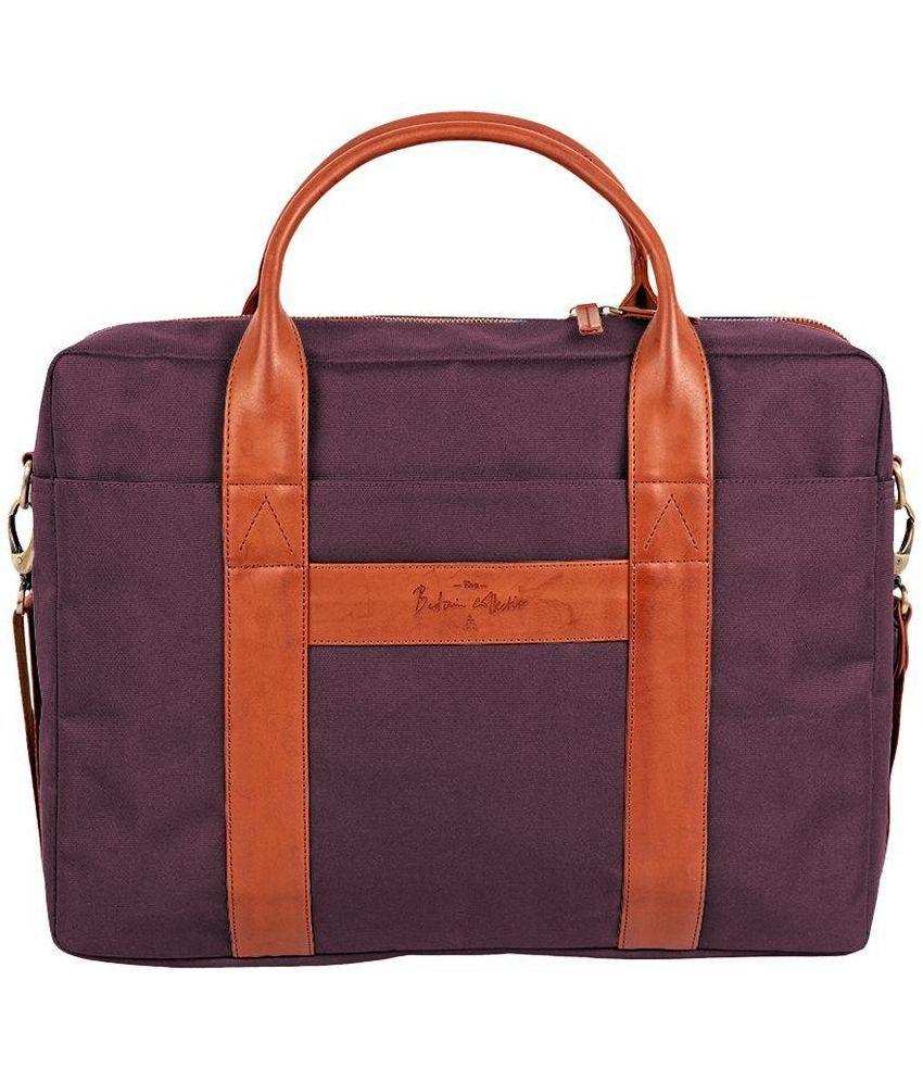 Atorse Purple Laptop Bag
