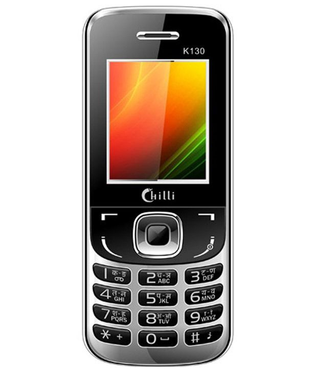 Chilli K130 Dual Sim GSM Camera Mobile Phone - Black