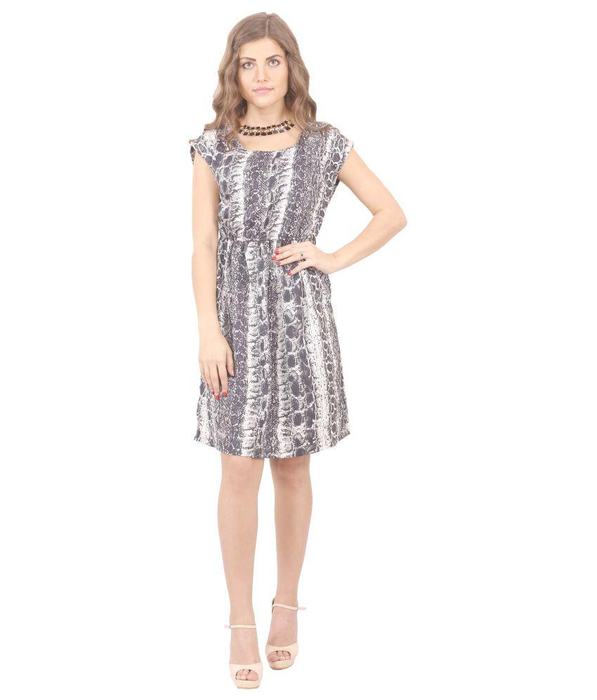 Madeinmyindia Gray Polyester Dresses