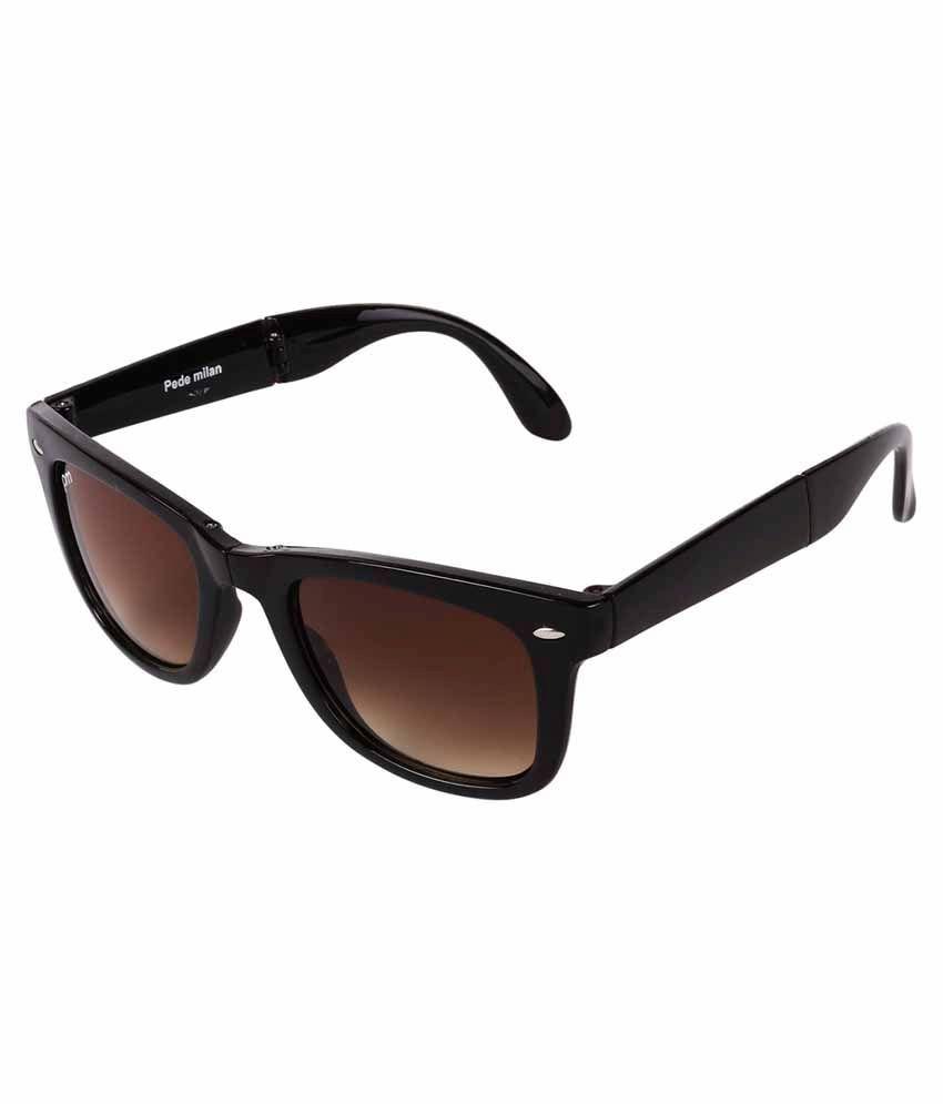 Pede Milan Brown Square Sunglasses