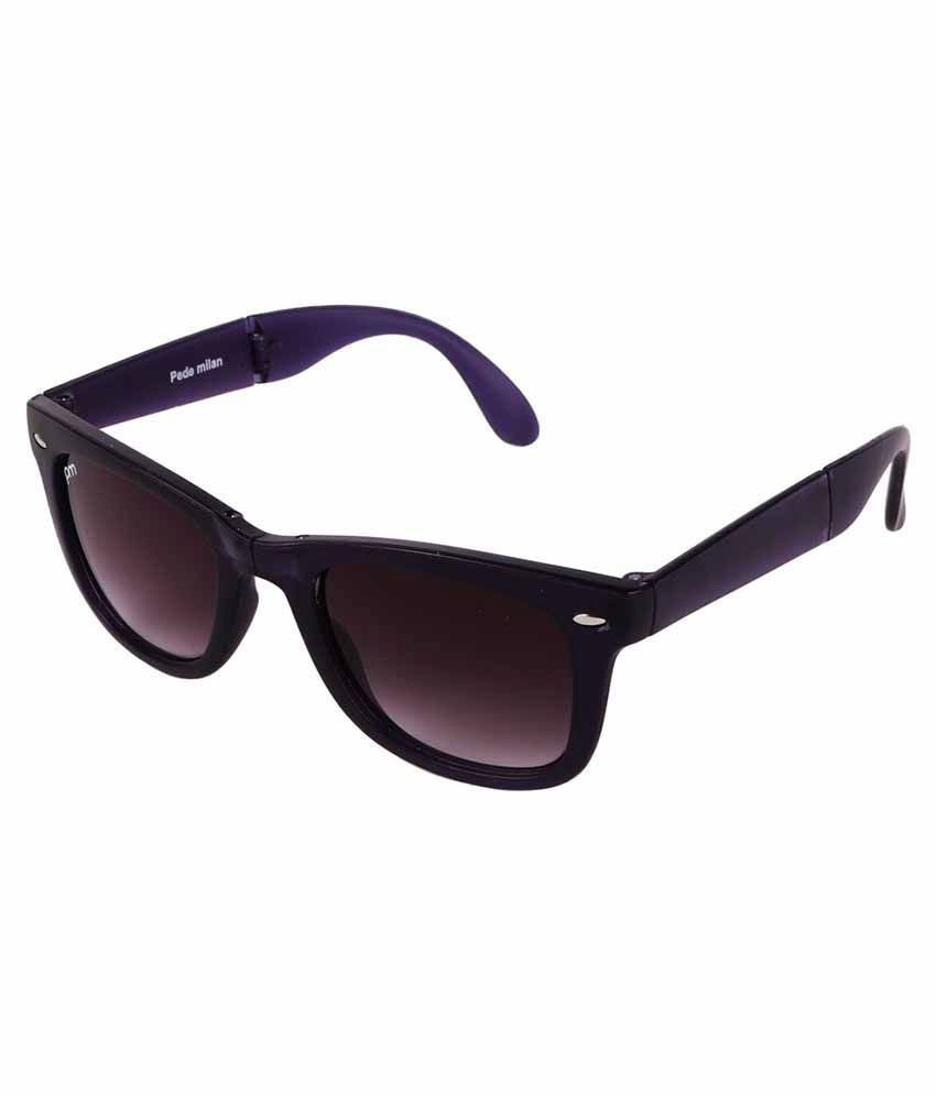 Pede Milan Purple Square Sunglasses