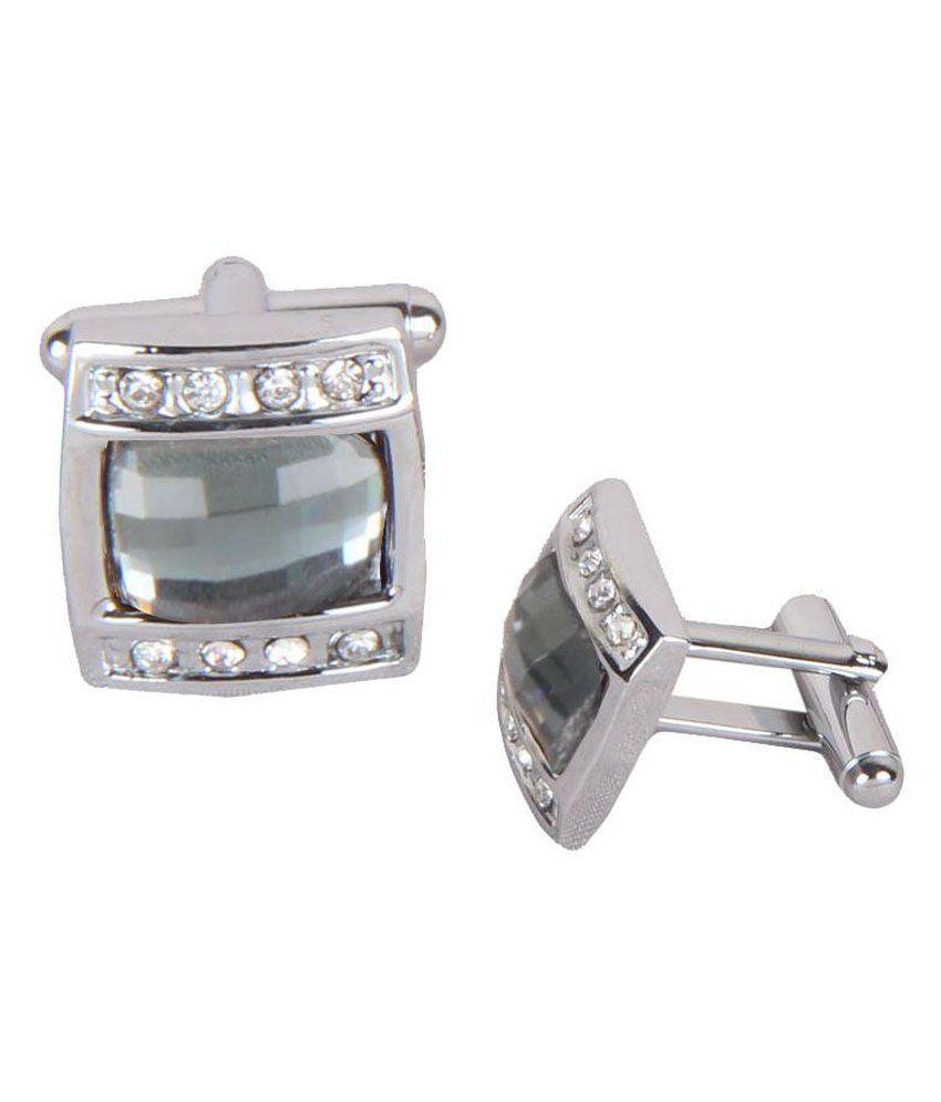 Sushito Silver Designer Cufflink For Men