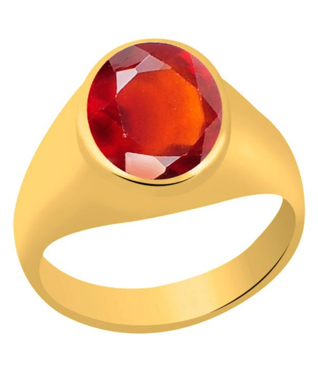 Clara Gomed Hessonite 3 Carat (3.25 Ratti) Panchdhatu Gold Plated Astrological Ring For Men & Women