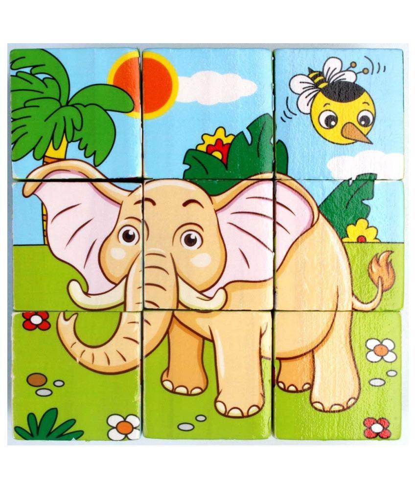 I Square Eneterprises Wooden Animal Puzzle - 9 Pieces ...