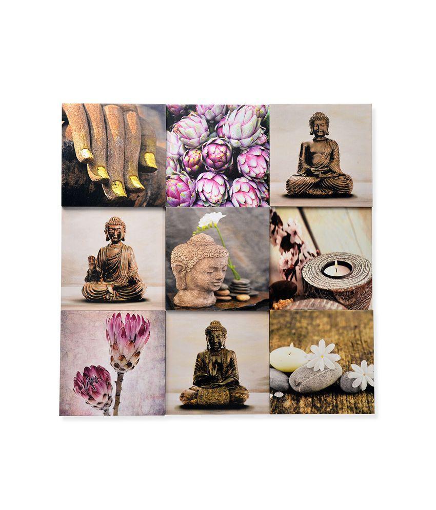 Nilkamal Pink Buddha Canvas Painting