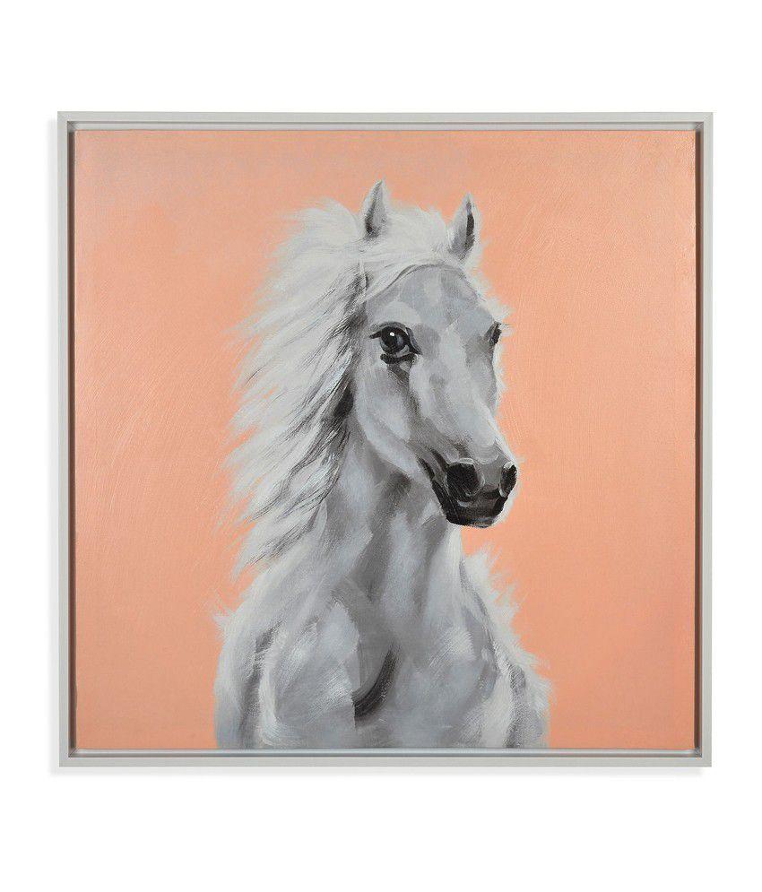Nilkamal White Horse Canvas Painting