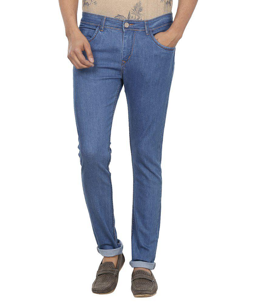 Fever Blue Slim Fit Basics Jeans