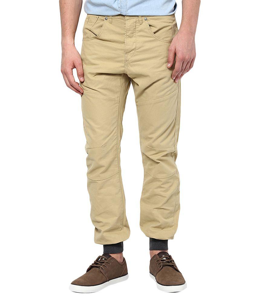 Jack & Jones Beige Slim Fit Trousers
