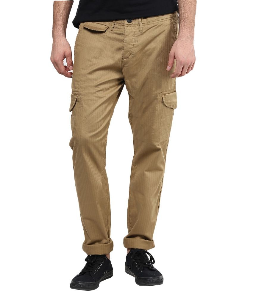 Jack & Jones Brown Slim Fit Trousers