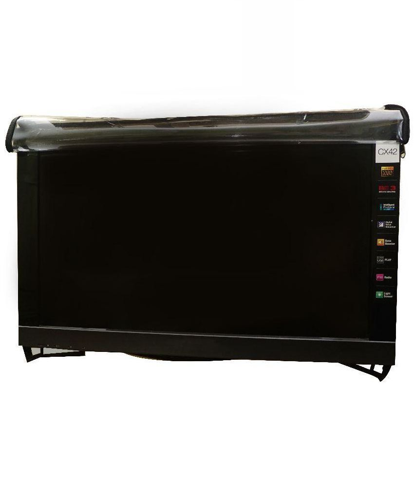 Aditya PVC TV Cover - Transparent