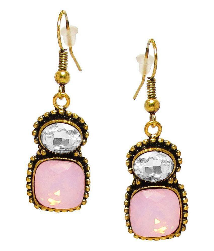 Jewelz Golden Alloy Earrings