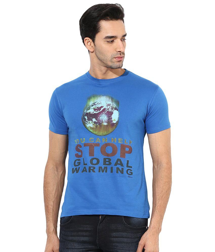 Okane Blue Round T Shirt