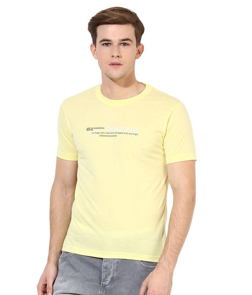 Okane Yellow Round T Shirt