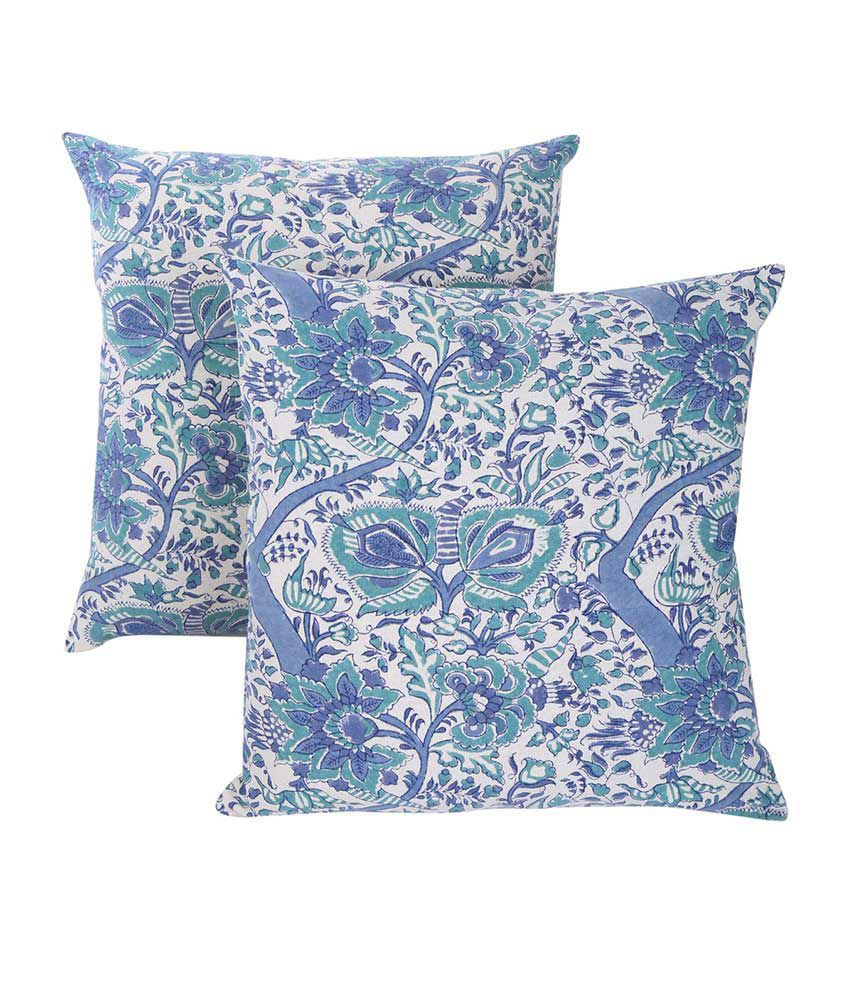 Rajrang Multicolor Cotton Cushion Cover - Set of 2