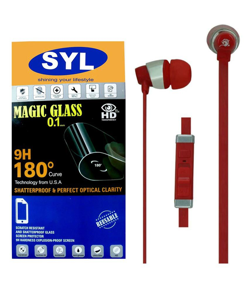 Samsung Galaxy Z1 Tempered Glass Screen Guard with Earphones by SYL