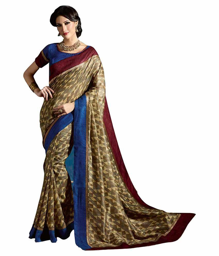 bd579912c43a64 Varibha Gold Silk Saree - Buy Varibha Gold Silk Saree Online at Low Price -  Snapdeal.com