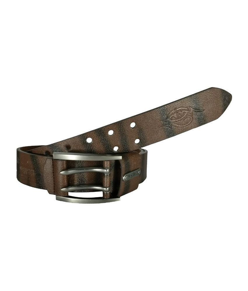 Kalewensen Brown Pin Buckle Belt for Men