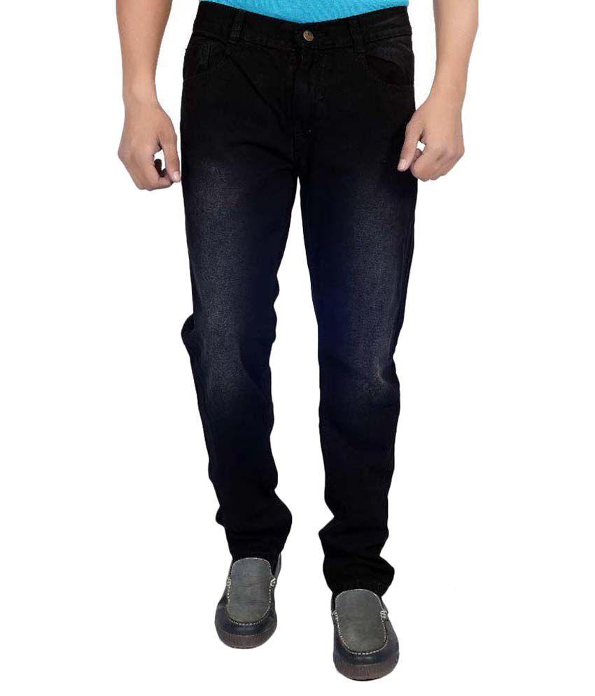 Karya Black Slim Fit Solid Jeans