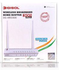 Digisol  DG-HR3300 Wireless Broadband Home Router - 300Mbps