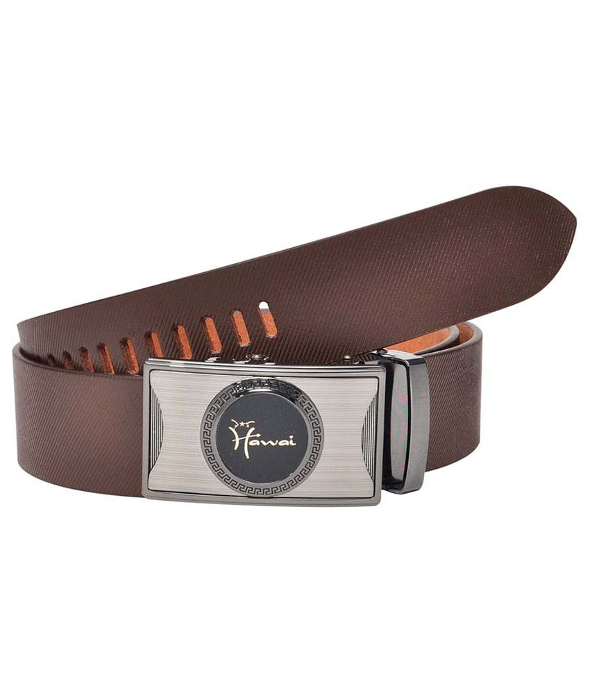 Hawai Brown Formal Belt For Men