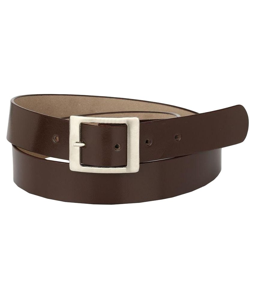 Jupiter Brown Leather Formal Belt For Men