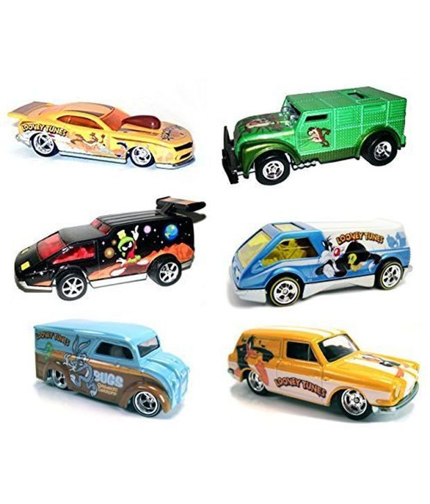 16e7c0576 ... Looney Tunes Hot Wheels 6 Car Set Pop Culture Bugs Bunny Daffy Duck+  Cars ...