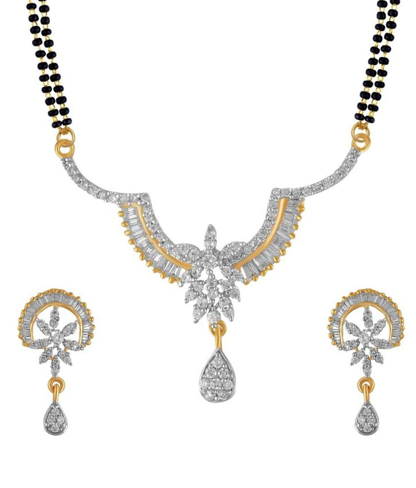Snazzy Silver and Golden Copper Mangalsutra Set