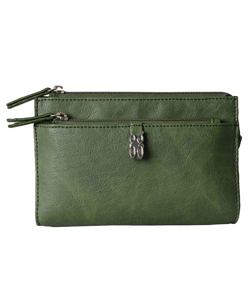 Baggit Lmp Rosey Wan Green Wallet