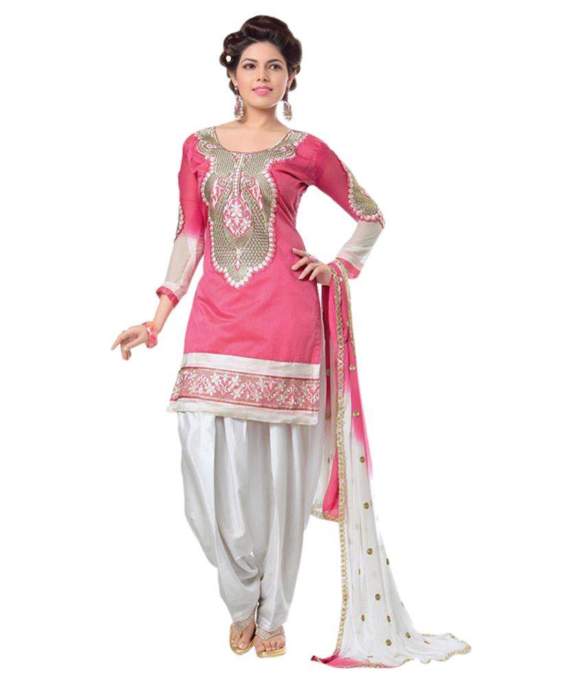 17d016579b9 Regalia Ethnic Pink and Grey Chanderi Pakistani Suits Semi Stitched Dress  Material - Buy Regalia Ethnic Pink and Grey Chanderi Pakistani Suits Semi  Stitched ...