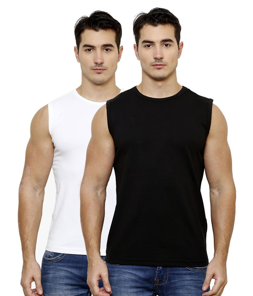 Casual Tees Multi Round T Shirt Pack of 2