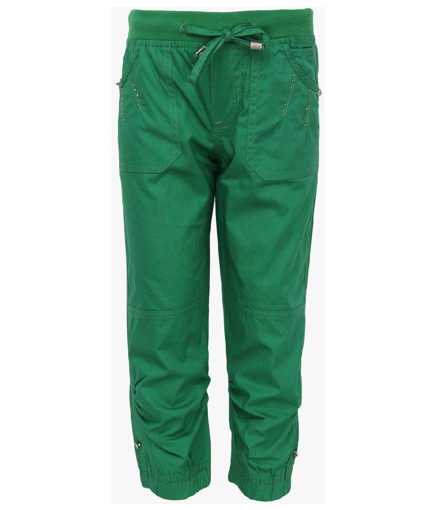 Cool Quotient Green Cotton Capris