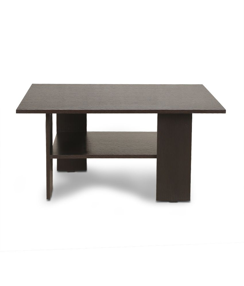 Crystal furnitech mazo coffee center table in wenge for Center coffee table furniture