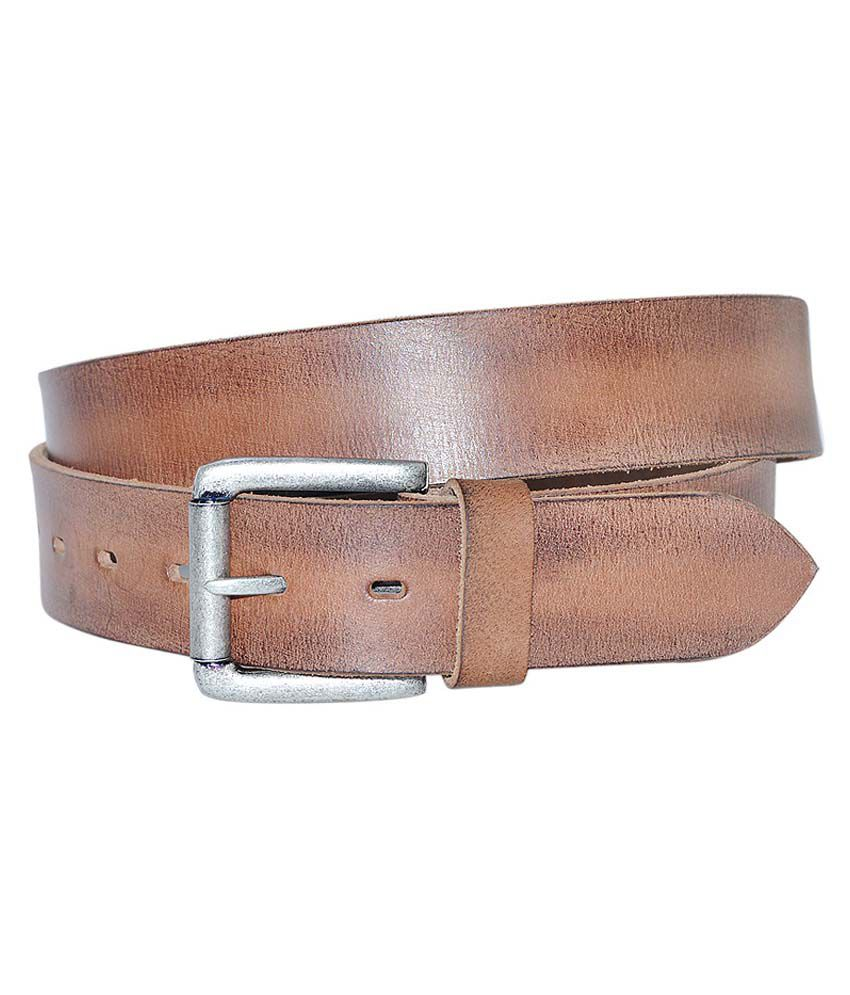 Hadwin Brown Leather Formal Belt for Men