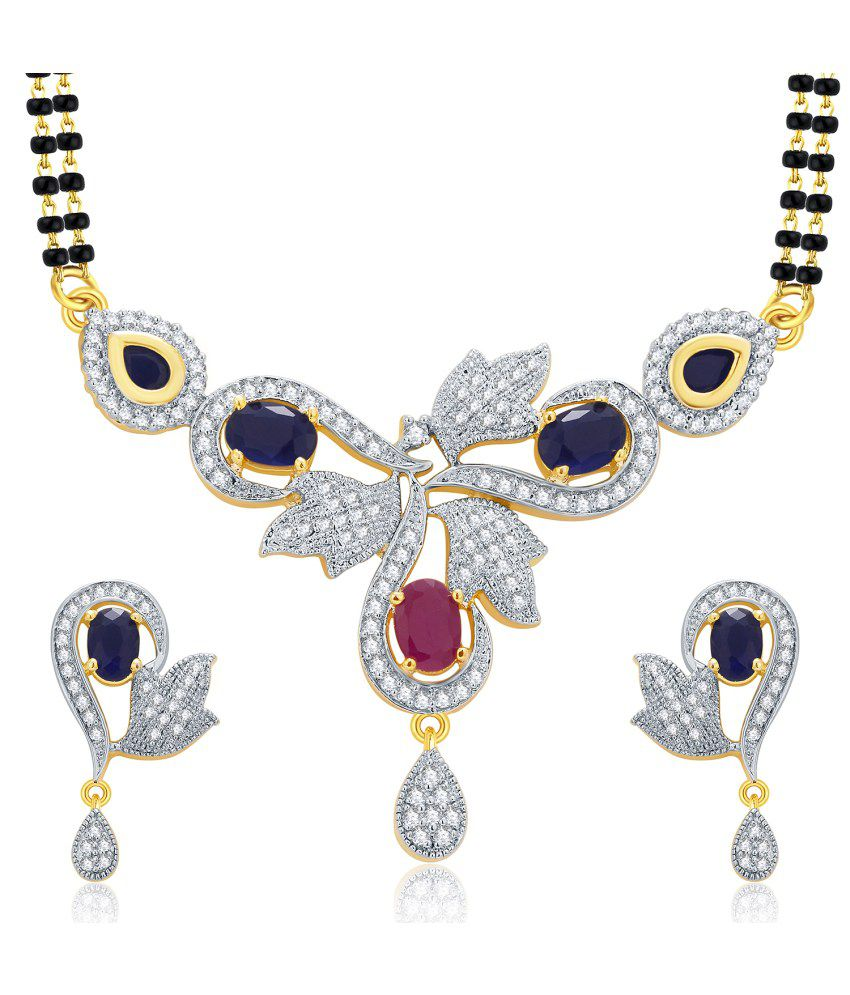 Sukkhi Gold And Rhodium Plated Ruby CZ Mangalasutra Set