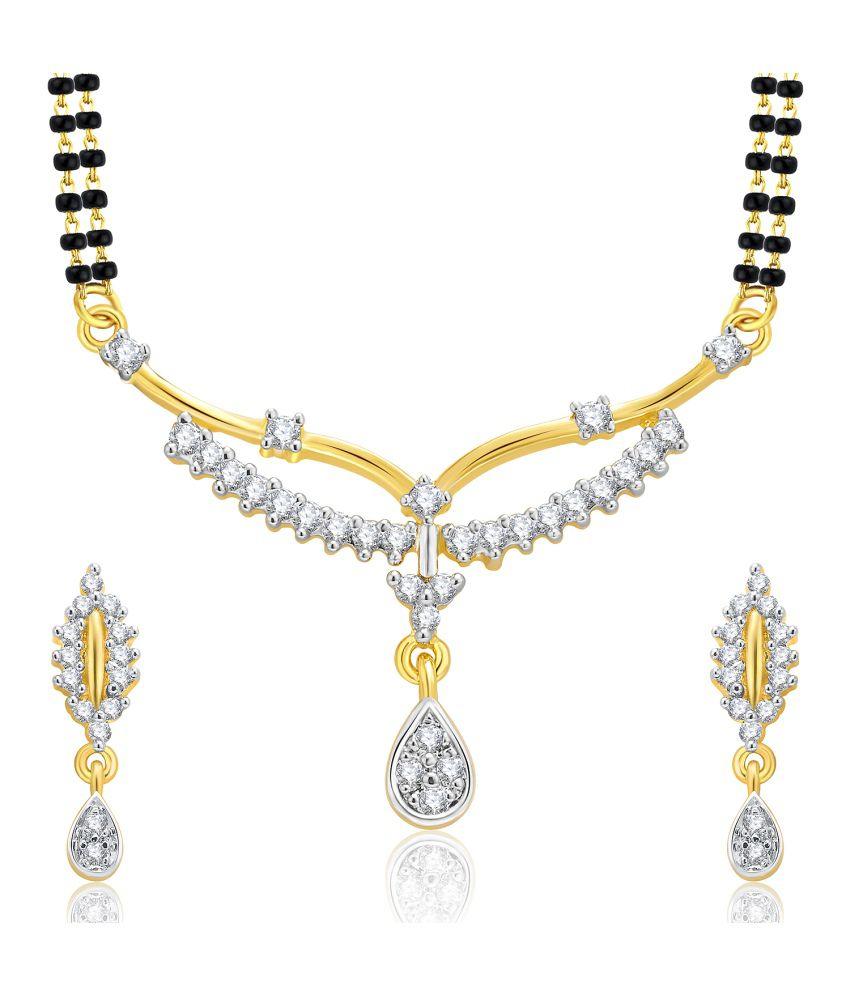 Sukkhi Gold And Rhodium Plated CZ Mangalasutra Set