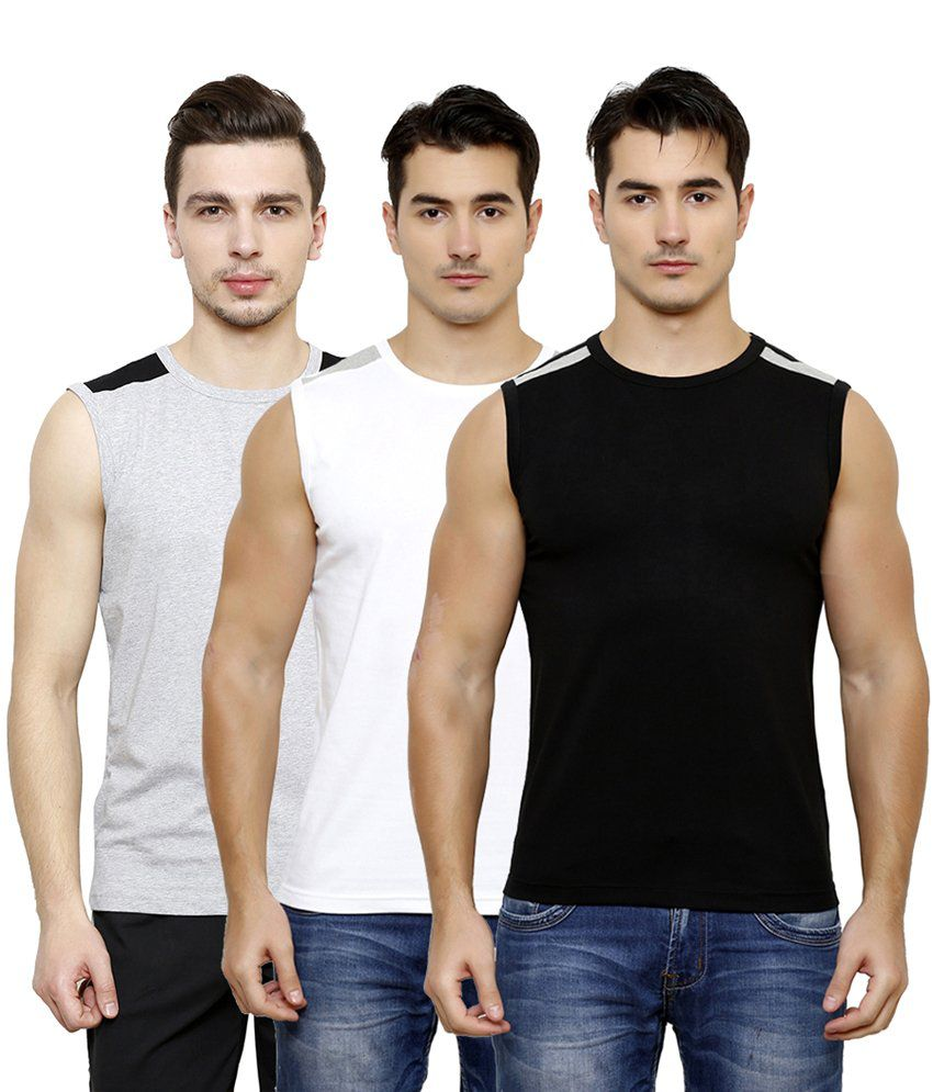 Casual Tees Multi Round T Shirt Pack Of 3