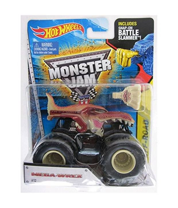 Hot Wheels Monster Jam Mega Wrex Brown Dinosaur Includes Snap On Battle Slammer New Rare Buy Hot Wheels Monster Jam Mega Wrex Brown Dinosaur Includes Snap On Battle Slammer New Rare