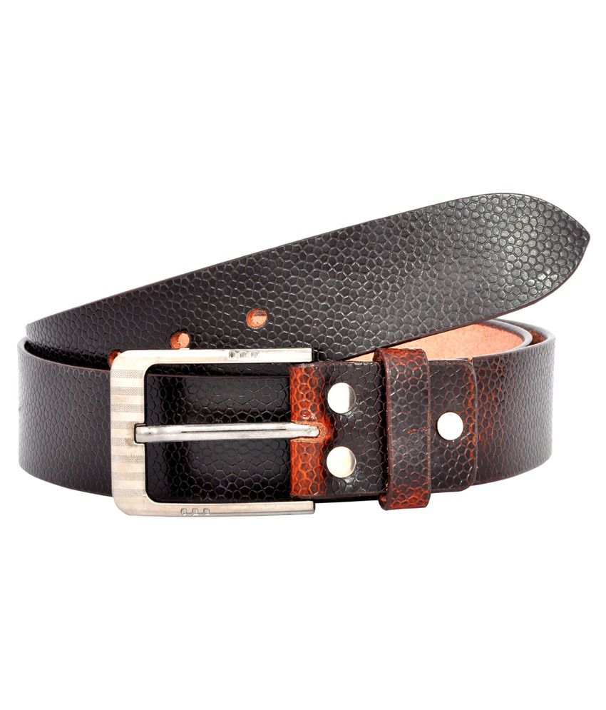 Leo Brown Leather Casual Belt for Men