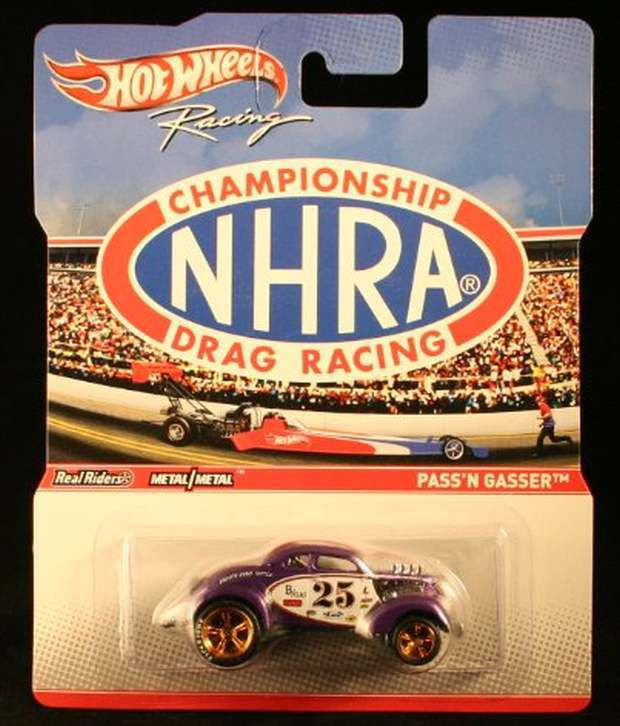 PASS'N GASSER * NHRA CHAMPIONSHIP DRAG RACING * 2011 Hot Wheels RACING  SERIES 1:64 Scale Die-Cast Vehicle