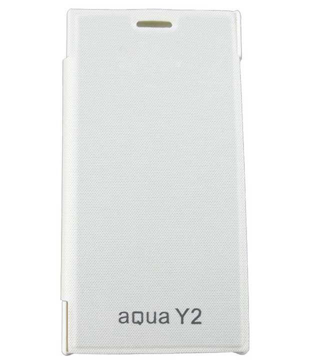 Sbgalaxy Flip Cover For Intex Aqua Y2 - White