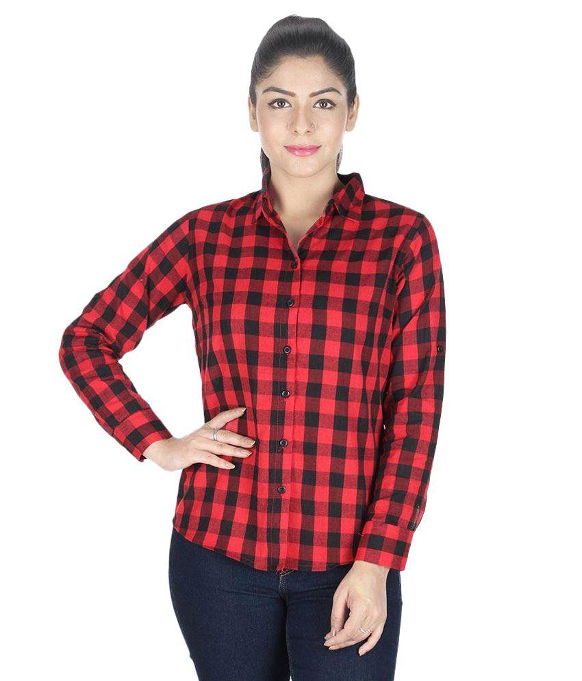 Buy GsaEnterprises Red Cotton Shirts Online at Best Prices ...