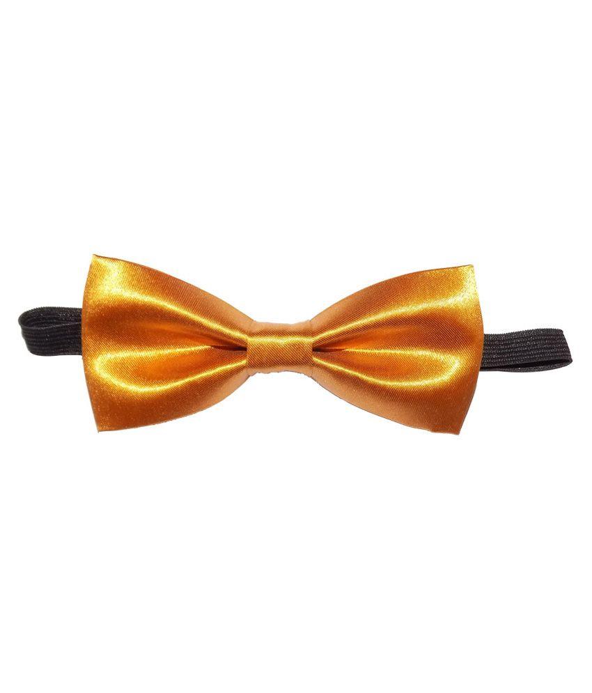 Forty Hands Gold Satin Bow Necktie for Men