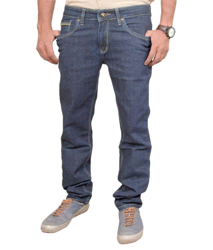 denword Blue Slim Fit Solid Jeans