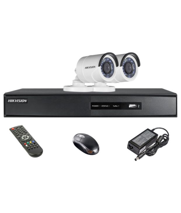 Hikvision-DS-7204HQHI-E1-4CH-Dvr,-2(DS-2CE16DOT-IR)-Bullet-Camera-(With-Mouse,-Remote)