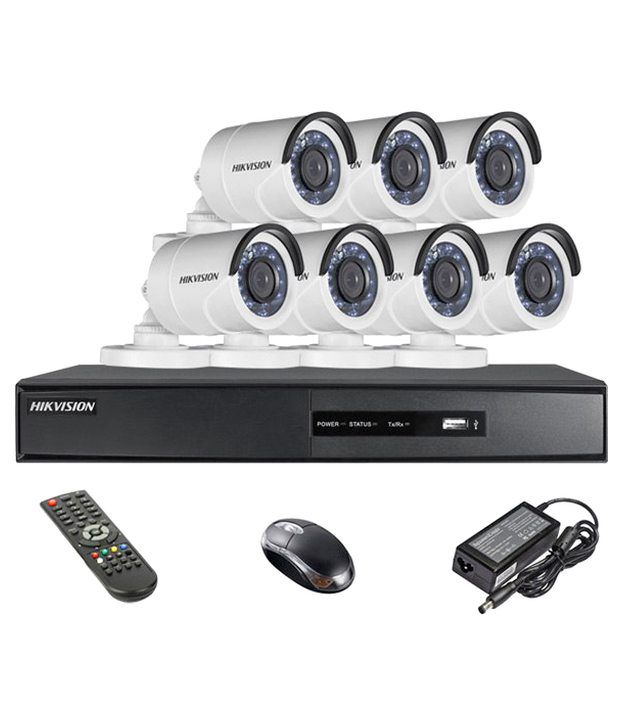 Hikvision-DS-7208HQHI-E1-8CH-Dvr,-7(DS-2CE16DOT-IR)-Bullet-Camera-(With-Remote,Mouse)