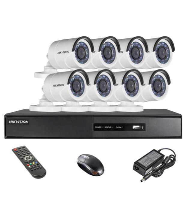 Hikvision-DS-7208HQHI-E1-8CH-Dvr,-8(DS-2CE16DOT-IR)-Bullet-Camera-(With-Mouse,-Remote)