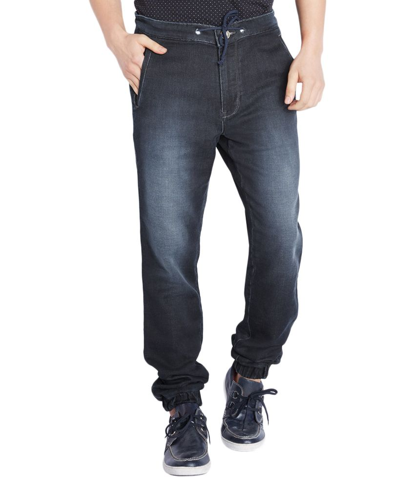 Parx Navy Blue Relaxed Jeans