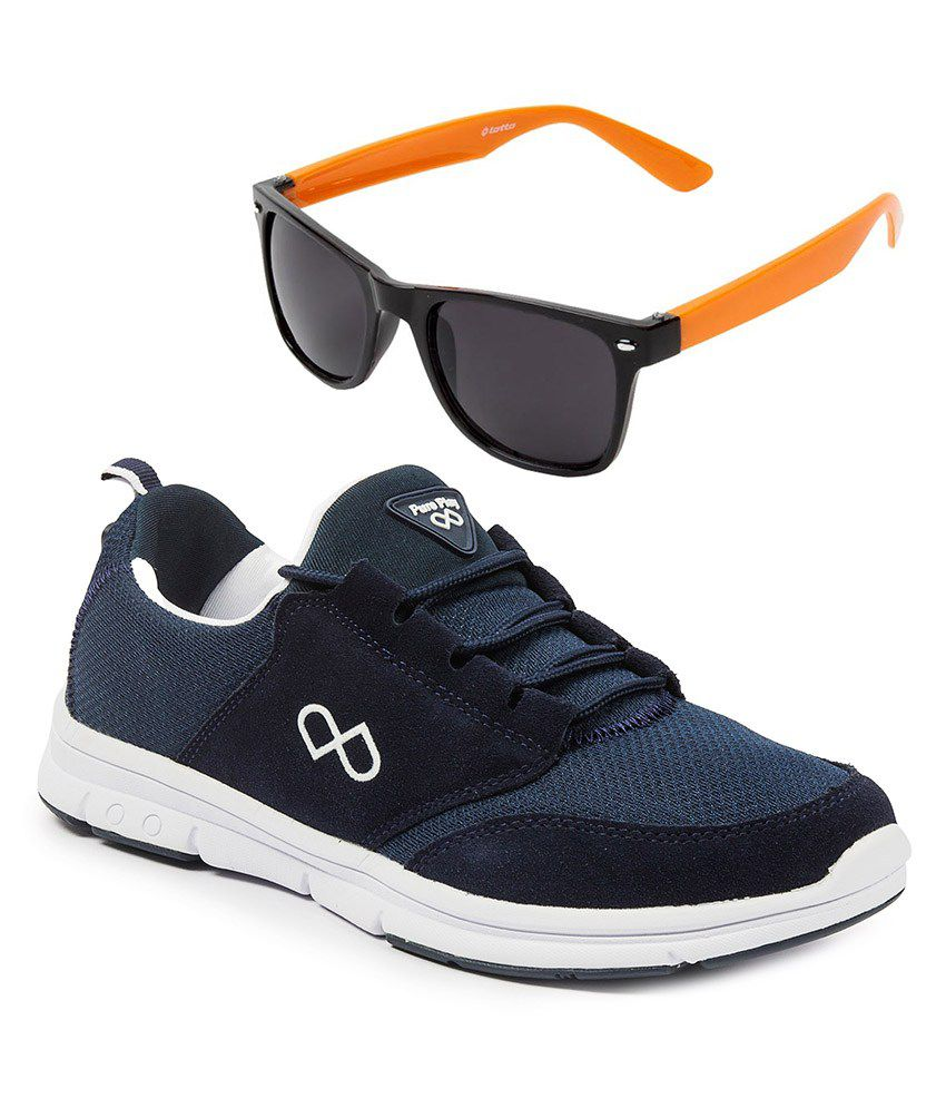 e9079f836a37 ... Shoes And Lotto Sunglasses Combo - Buy Pure Play Men's Modesto NAVY  Sports Shoes And Lotto Sunglasses Combo Online at Best Prices in India on  Snapdeal