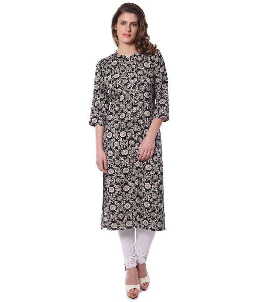 Vedic Multicoloured Cotton Straight Kurti