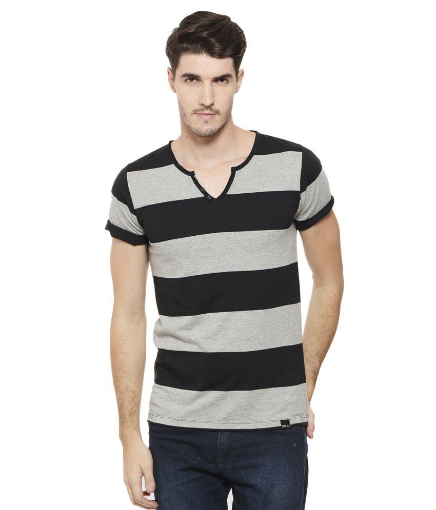Rigo Black V-Neck T Shirt